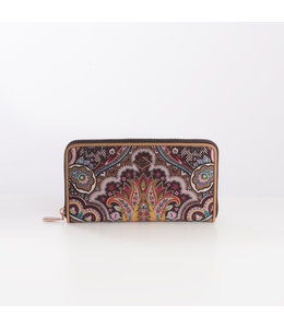 Oilily Paisly L Zip Wallet coffee