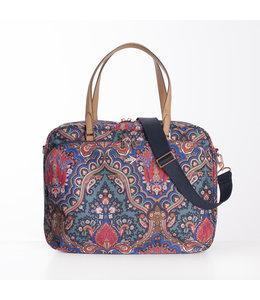 "Oilily Paisley 15"" Office Bag royal blue"