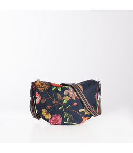 Oilily Winter Bouquet City schoulder bag navy night