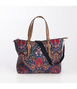 Oilily Paisly Handbag royal blue