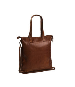 Chesterfield Antique Buff Darwin laptop-shopper cognac