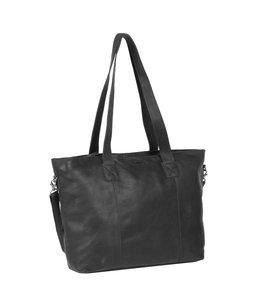 "Justified Bags Nynke leren 15.6"" laptop-shopper 71 zwart"