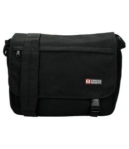 Enrico Benetti Messenger bag expandable zwart