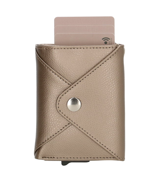 Safety Wallet Charm portemonnee cooper metallic