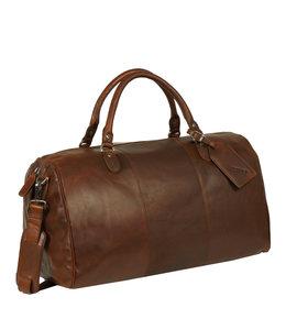 Justified Bags Max duffel leren reistas cognac