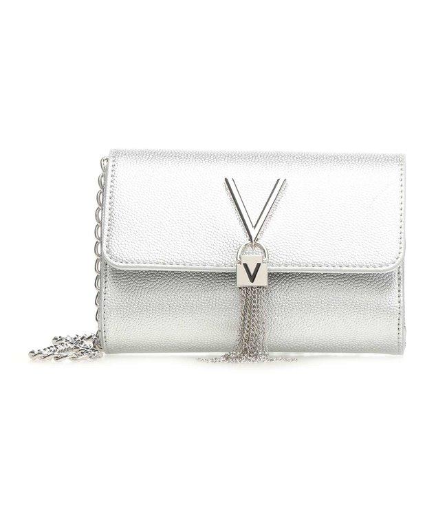 Valentino Bags Divina Pochette argento