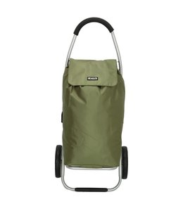 Beagles boodschappentrolley-winkelkarhaak olijf groen