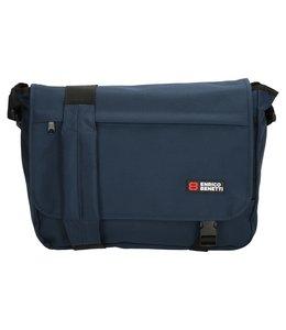 Enrico Benetti Messenger bag expandable blauw