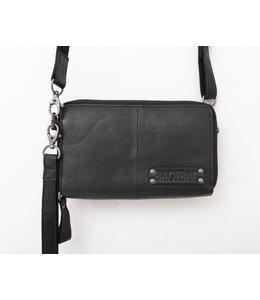 BAG2BAG Gibson leren portemonnee-tas zwart