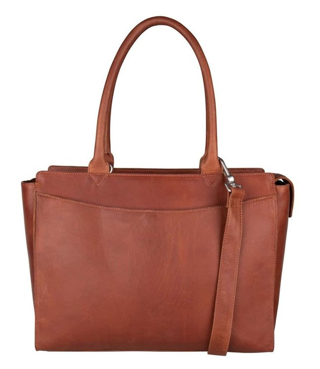 "Cowboysbag Bag Malmesbury 15.6"" laptop shopper cognac"