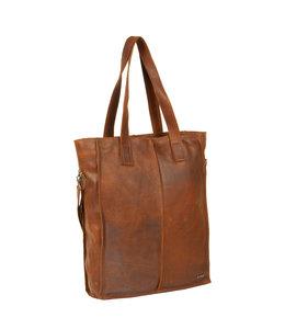 "Justified Bags Nynke 15"" laptop shopper cognac"