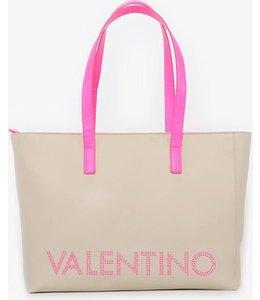 Valentino by Mario Valentino Portia Tote luxe shopper ecru/fuxia fluo