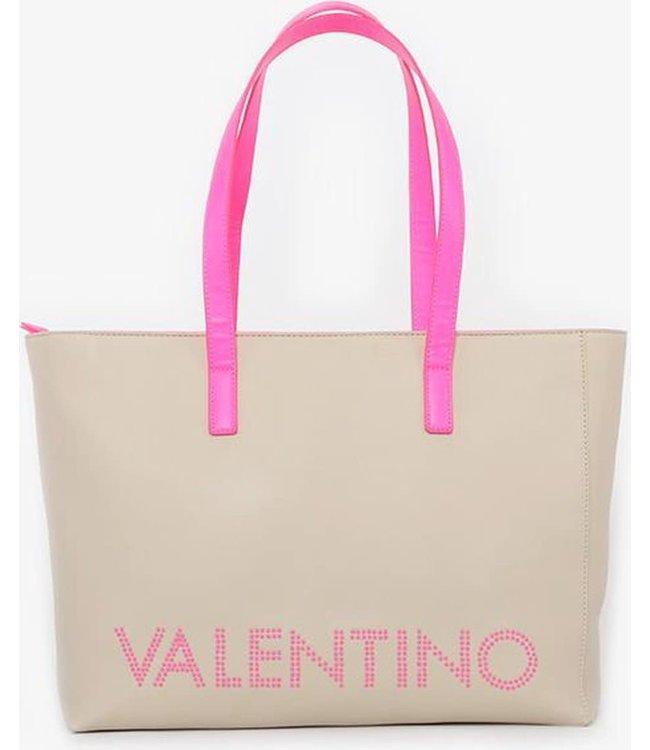 Valentino Bags Portia Tote luxe shopper ecru/fuxia fluo