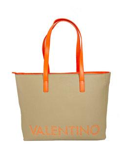 Valentino by Mario Valentino Portia Tote luxe shopper ecru/aranc fluo
