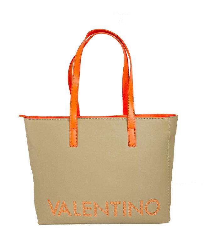 Valentino Bags Portia Tote luxe shopper ecru/aranc fluo