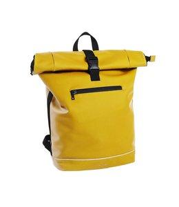 """Daniel Ray Leek Rolltop 17"""" laptop-rugtas XL geel"""