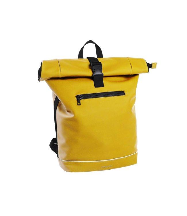 "Daniel Ray Highlands Rolltop L 15.6"" laptop-rugtas geel"