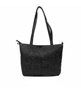 Bear Design Flora s shopper flower zwart