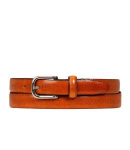 Cowboysbag 202001 glad leren damesriem 2cm cognac
