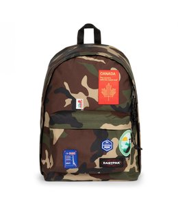 """Eastpak Out of Office 15.4"""" laptop-rugzak patched camo"""