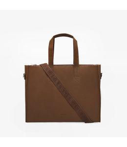 "MYoMY My Paperbag Work 15.6"" laptoptas hunter mid brown"