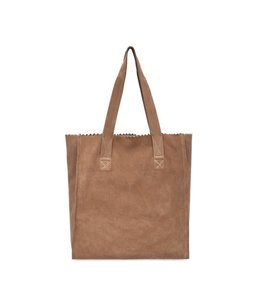 MYoMY My Paper Square shopper suede camel