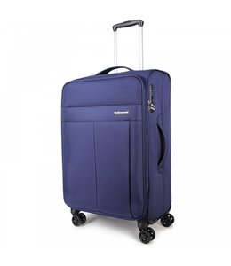 Decent D-Upright 66cm reiskoffer-trolley expendable blauw