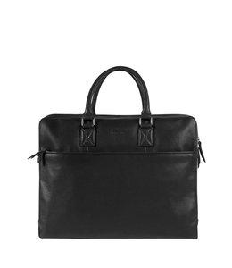 """Burkely Antique Avery laptopbag 17"""" zwart"""