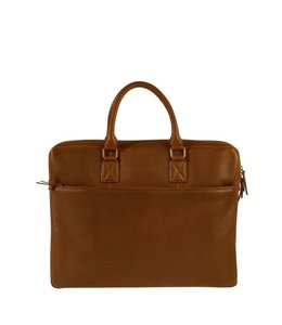 "Burkely Antique Avery laptopbag 17"" cognac"