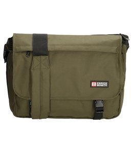 Enrico Benetti Messenger bag expandable groen