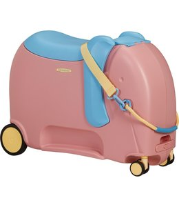 Samsonite Dreamrider Deluxe ride-on kinderkoffer elephant pink