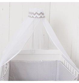 "Crib Bedding Set ""Chevron/ Stripes"""