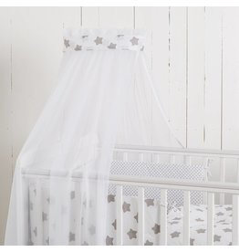 """Crib Bedding Set """"Dots/ Stars white"""""""