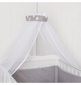 "Crib Bedding Set ""Dots/ Stars grey"""