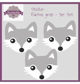 Sticker Füchse groß - 3er Set