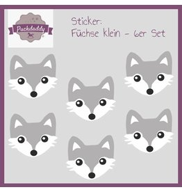 Sticker set Foxes small - 6 piece set