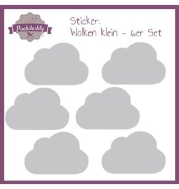 Sticker graue Wolken klein - 6er Set