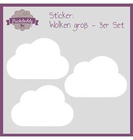 Sticker weiße Wolken groß - 3er Set