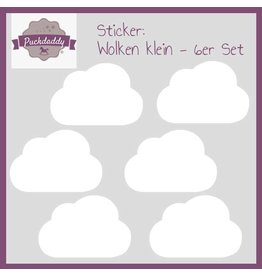 Sticker White Clouds Small - 6 piece set