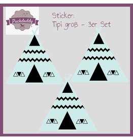 Sticker tipi mint big - 3 piece set