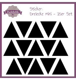 Sticker triangles black mini - 15 piece set