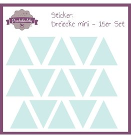 Sticker Dreiecke mint mini - 15er Set