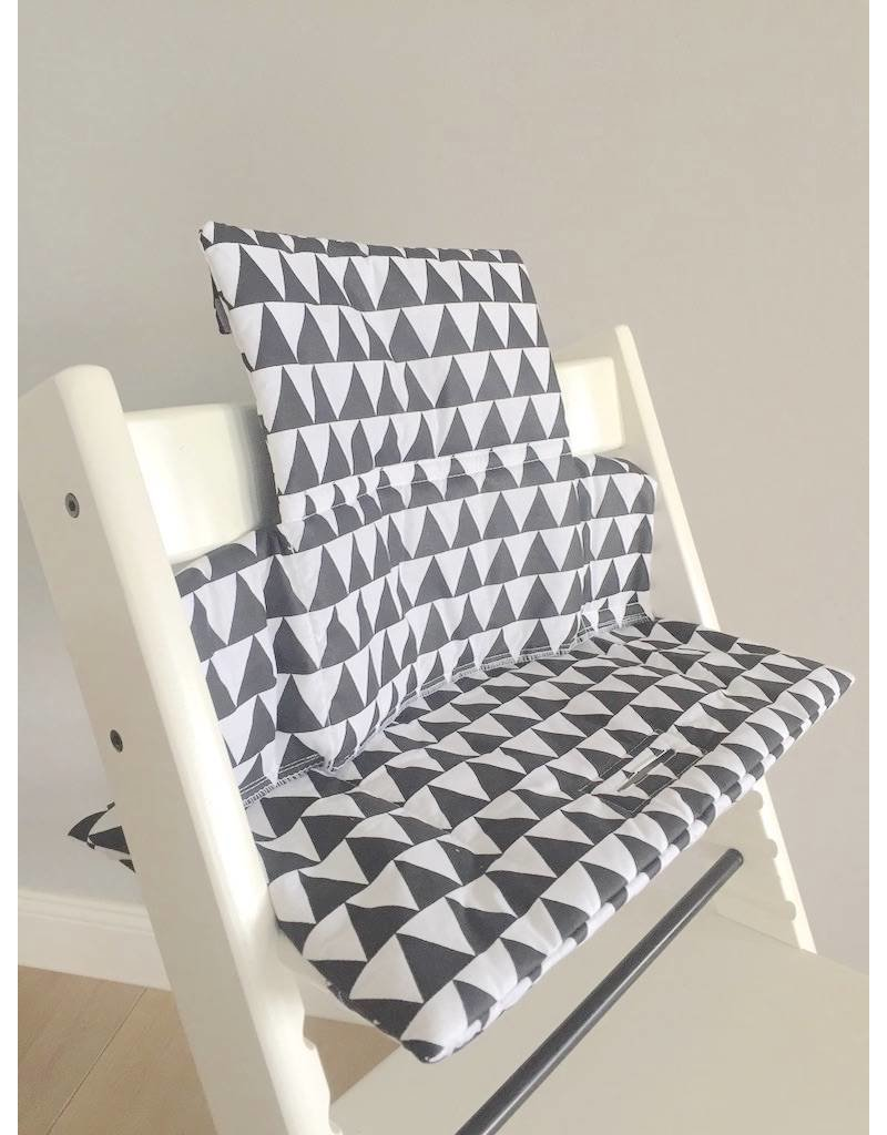 """Highchair Cushion """"Triangles black"""" for Stokke Tripp Trapp"""