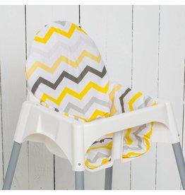 """Highchair cushion """"chevron yellow"""""""