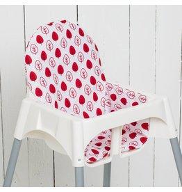 """Highchair cushion """"leaf red"""""""