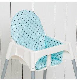 """Sitzkissen """"Sterne mint"""" für Ikea Antilop Hochstuhl"""