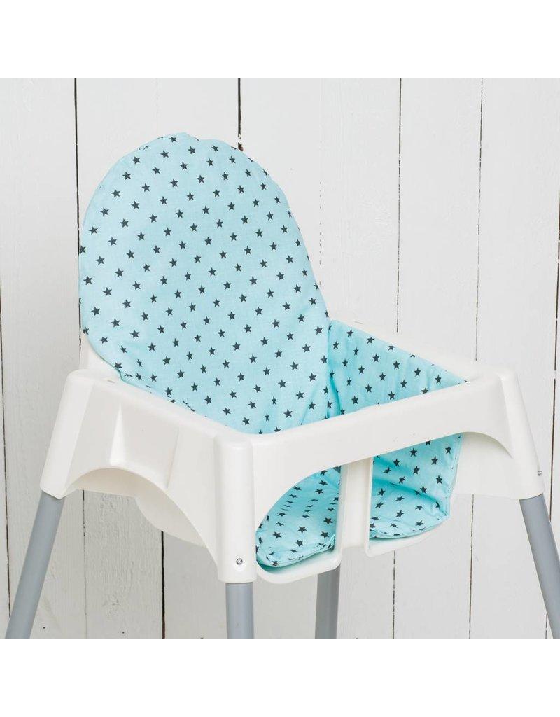 "Highchair cushion ""stars mint""  for IKEA Antilop"