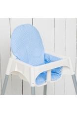 "Highchair cushion ""dots lightblue"" for IKEA Antilop"