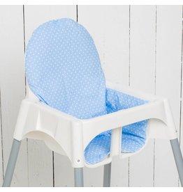 """Sitzkissen """"Punkte hellblau"""" für Ikea Antilop Hochstuhl"""