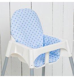 """Highchair cushion """"stars lightblue"""""""